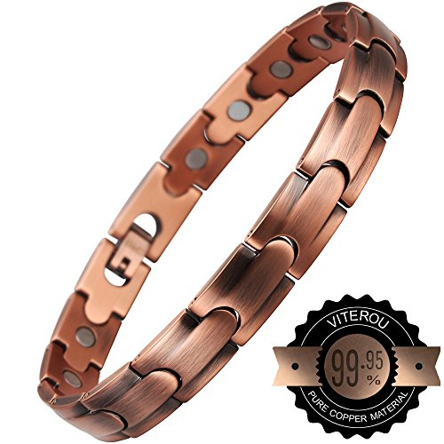 viterou-womens-magnetic-9995-pure-copper-bracelet-with-magnets-pain-relief-for-arthritis3500-gauss