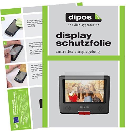 dipos I 3X Schutzfolie matt passend für DBPower 7,5 Zoll Tragbarer DVD-Player Folie Displayschutzfolie