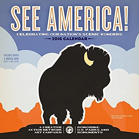 See America! Wall Calendar 2016 by Workman Publishing (2015-06-25) - America Del Wall Calendar