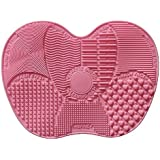 G2Plus Limpiador de cepillo de silicona–Alfombrilla limpiadora de brochas Brushegg grande Almohadilla de goma 23cm * 17cm