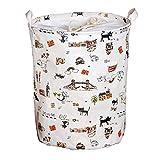 Andux cestino di vestiti Organizzazione lavanderia Ceste per la biancheria (Gatto nero) ZYL-01