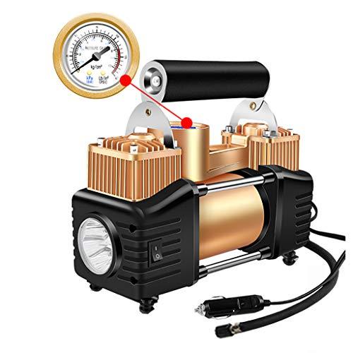 12V Reifenfüller - Hochleistungs-Doppelzylinder mit Direktantrieb, Metallpumpe 150PSI, Luftkompressor mit Batterieklemme und 3M Verlängerungsluftschlauch -