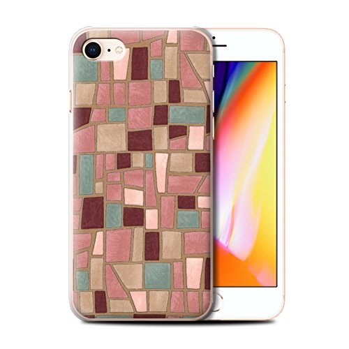 Stuff4 Hülle / Case für Apple iPhone 8 / Rosa/Lila Muster / Mosaik Fliese Kollektion Rosa/Lila