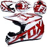 MJW Adulto Motocross Casco/Gafas/Máscara/Guantes Moto Casco,C,L