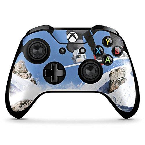 DeinDesign Microsoft Xbox One X Controller Folie Skin Sticker aus Vinyl-Folie Aufkleber Snowboard Sprung Wintersport