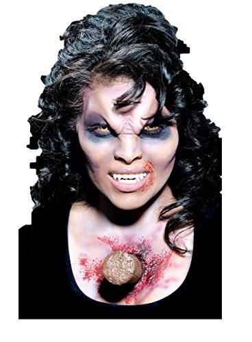 Damen Herren Halloween Blutige Zombie Spezialeffekte Latex Make-Up Kostüm Kleid Outfit Satz - Pfahl, One Size, Einheitsgröße