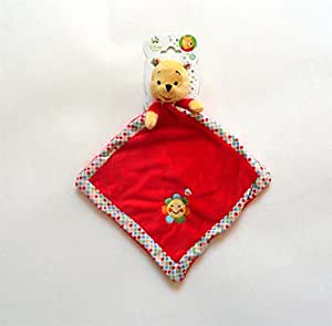 Disney - Doudou plat Winnie l'ourson rouge