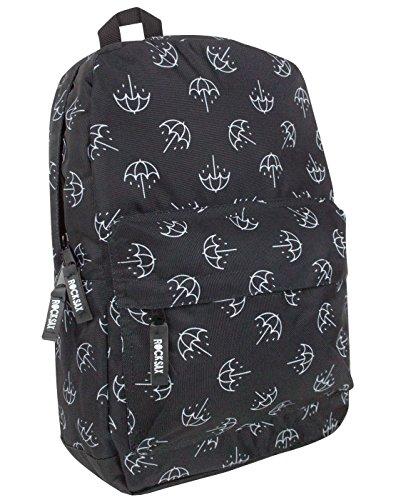 Rock Sax Bring Me The Horizon Umbrella Print Backpack (Nylon-print-rock)