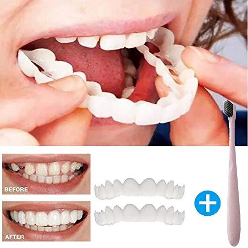 TAOtTAO Temporäre Smile Comfort Fit kosmetische Zähne Prothese Zähne Top Kosmetik