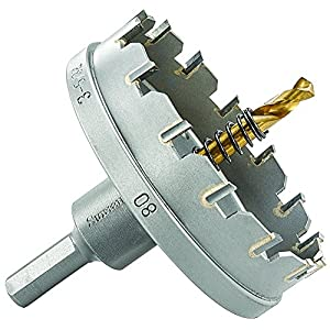 Starrett SM080 Corona perforadora, Negro, 80 mm
