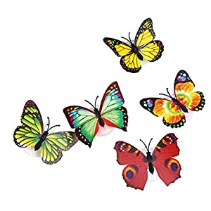 Baby Butterfly Lights, Deloito Flashing Colorful 3D Butterfly Wall Stickers for Girl Bedroom Baby Kids Toy Gift, Creative LED Small Lamp Night Light Stickers Home Decor Room Decoration