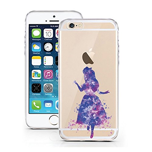 Blitz® AQUARELLE motifs housse de protection transparent TPE caricature bande iPhone Alice au pays des merveilles aquarelle M1 iPhone 7 / 8