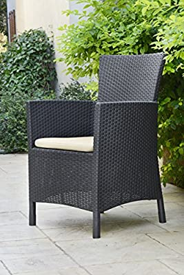Allibert by Keter Rosario Outdoor 2 Seat Rattan Balcony Garden Furniture Set