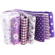 7 cintas lilas algodon costura, scrapbooking .. 1m x 5 cm.