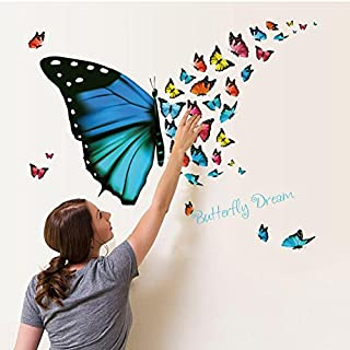 3D Wall Stickers,erthome Colorful Butterfly Wall Sticker Removable Decals Art Living Room Decors