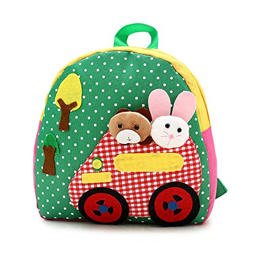 Imagen de dafenq linda guardería infantil  cartoon conejo oso guardería primaria dibujos bolsa escuela pequeño kinderrucksack para bebé niño niña verde