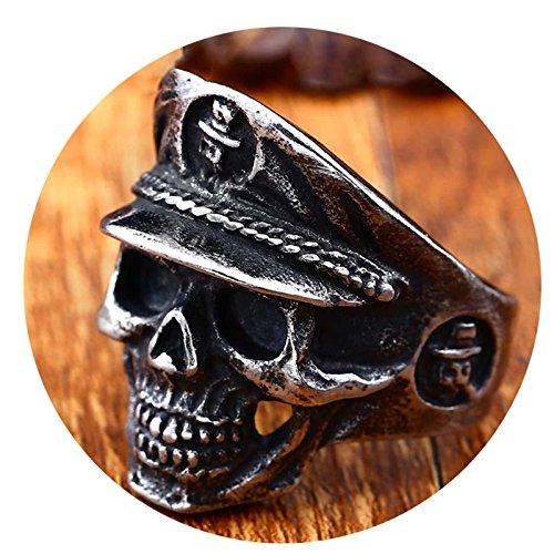 Beydodo Männer Ring Titan Soldaten Schädel Totenkopf Freundschaftsringe Silber Ring Herren Größe 60 (19.1) - Schädel-ringe-titan