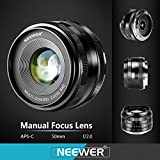 Neewer NW-E-50-2.0 50mm f/2.0 Manueller Fokus Prime - 3