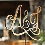 Custom Holz Tortenaufsatz für Hochzeit Personalisierte Jahrestag Gold Tortenaufsatz Funny Hochzeit Geschenk für das Paar