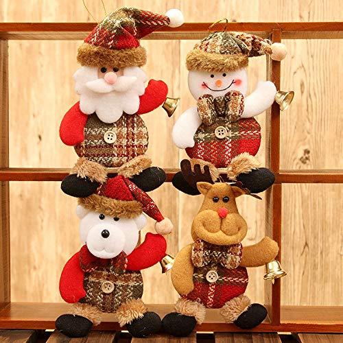 (Prevently 3D Weihnachtsbaum Deko Weihnachtsbaumschmuck Weihnachtsanhänger Hängende Verzierung Weihnachtsbaum-Schmuck für Weihnachtsbaum Geschenke (Mehrfarbig))