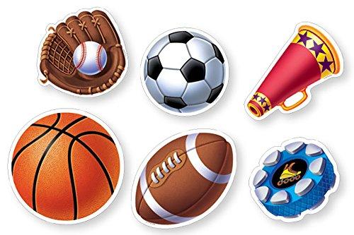 Sport 6Designer Aussparungen (cs91102) (Fußball Bulletin Board)