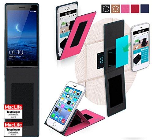 reboon Hülle für Oppo Find 7 Tasche Cover Case Bumper   Pink   Testsieger