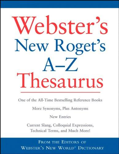 Office Depot Webster's New World Roget's A-Z Thesaurus CUSTOM