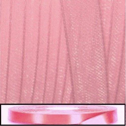 40 - 45 Mtrs 20mm Organza Ribbon by Roll - Pale Pink (Pale Pink Ribbon)