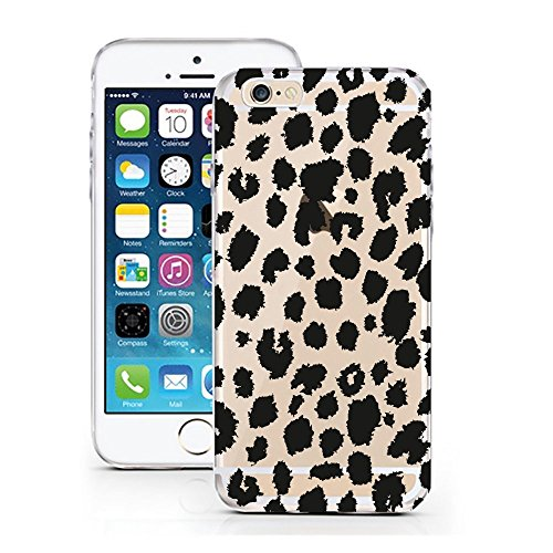 licaso iPhone 7 Hülle Apple iPhone 7 aus TPU Silikon Leo Leopard Katze Safari Muster Ultra-dünn schützt Dein iPhone 7 & ist stylisch Schutzhülle Bumper in einem (iPhone 7, Leo) -