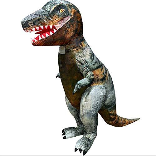 HXYL Adult Halloween Dress Up Dinosaurier Kostüm, Dinosaurier Aufblasbares Kostüm, Weihnachten, Maskerade, Lustig Streich