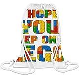 Ich hoffe, du trittst auf ein Lego - I Hope You Step On A Lego Custom Printed Drawstring Sack 5 l 100% Soft Polyester A Stylish Bag For Everyday Activities