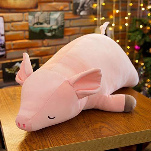 Lukame✯ Plüsch Nettes Schwein Puppe Rosa Kuscheltier Super Weiches Kissen Baby Kinder Spielzeug Geschenk (60Cm)