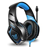 ONIKUMA Stereo Gaming Headset for PS4 Xbox One Over Ears Noise Cancelling Microphone Gaming Headphones with Mic for Nintendo Switch PlayStation 4 Laptop Smartphones and PC