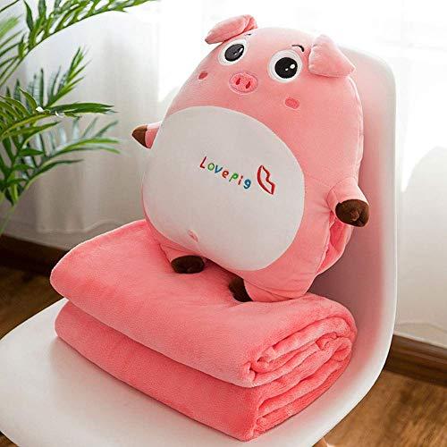 ns-Niedliches Schweinchen Plüschkissen Handwärmer mit Klimaanlage Decke ()