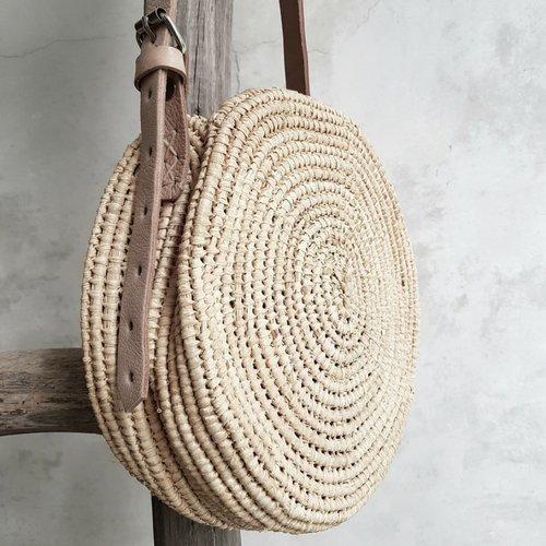 Handtasche Korb Bast-Handarbeit mundgeblasen in Marokko, Look Boho Chic, Boheme, Dekoration, Geschenk Mädchen Boho,