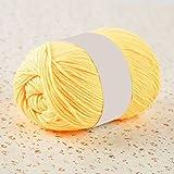 display08ovillo de lana de color sólido suave cómodo para tejer ganchillo a mano DIY Craft...
