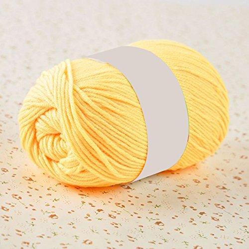 AchidistviQ 50g Hand Stricken häkeln basteln DIY angenehm Weiches Farbe Troddeln gelb -