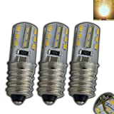 3x Stk. E14 LED mini Lampe 1,5 Watt warmweiß Silicia/Silikon für Kühlschrank/kleine Lampe