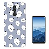 "003176 - Cute panda pattern blue background Design Huawei Mate 10 Pro 6"" Fashion Trend Case Gel Rubber Silicone All Edges Protection Case Cover"
