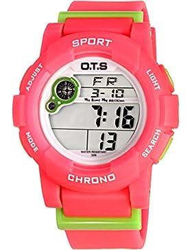 Electronic watch wasserdicht night light alarm multi-funktion outdoor sports-C