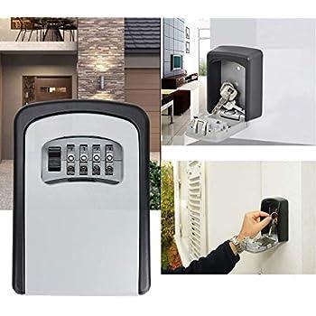 Bompow Key Lock Box Wall Mounted Outdoor Combination Key