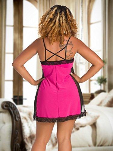 Nine X- féminines Nuisette, M-7XL chemise de nuit Grande Taille Rose Poussiéreuse