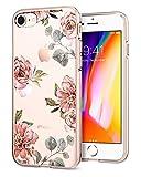 Spigen (054CS22619, [Liquid Crystal] Cerisier Ultra Fine TPU Souple Motif Imprimé [Aquarelle Rose] Fleur de Cerisier/Adhérence Parfaite/Soft Coque pour iPhone 7/8