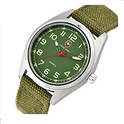 ANNA&JOE Quartz General watches for men and ladies textile canvas strap watch
