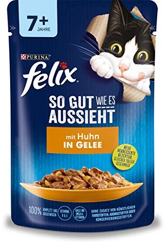 Felix Katzennassfutter So gut wie es aussieht in Gelee Senior mit Huhn 24x 85 g Portionsbeutel