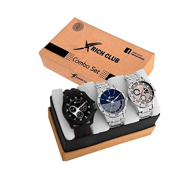 Rich Club Analog Multi-Colour Dial Men's Watch-ARMBLK~27GREY~27SMILY