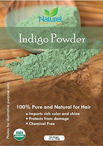Indigo Pulver-Pure und natürliche für Haar. Rezeptvorschlägen. Sicher und effektiv für Zuhause • vermittelt Reichhaltige Farbe und Glanz • schützt vor Beschädigungen. Halal, koscher zertifiziert -