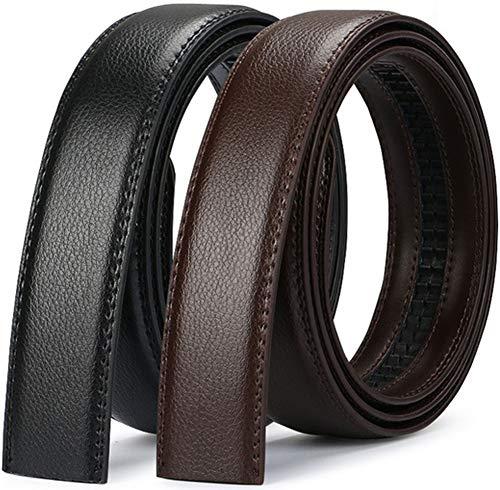 Wetoper hombres moda lujo cuero cintura cinta automática