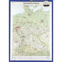 Übersichtskarte Deutschland 1 : 750 000: Wandkarte mit Aufhänger und Bestäbung (Deutschland-Wandkarten 1:750 000)