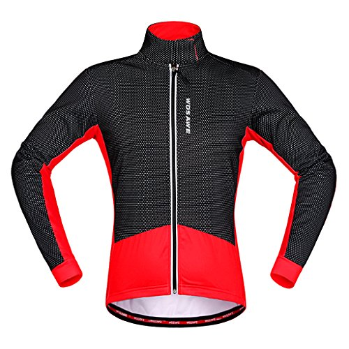 MagiDeal 1 Stk Unisex Thermo Fleece Radjacke Herbst-Winterkleidung Outdoor Sports Jersey -